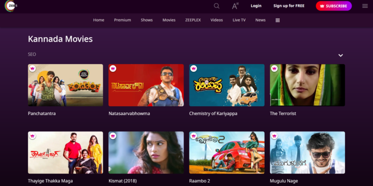 ZEE 5 Kannada Movies Download